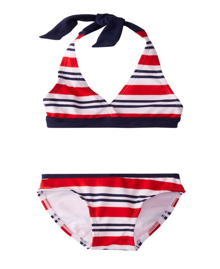 U.S. Polo Association Little Girls' Halter Top Bikini – Toddler Swimsuits