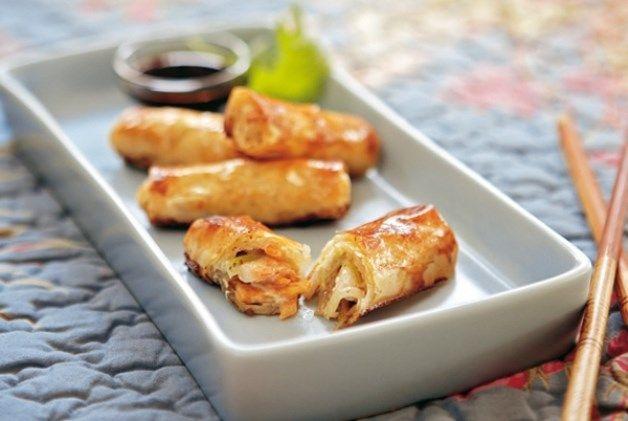 Hoy proponemos una #receta sencilla y muy resultona: Crujiente oriental de gambas y verduras.