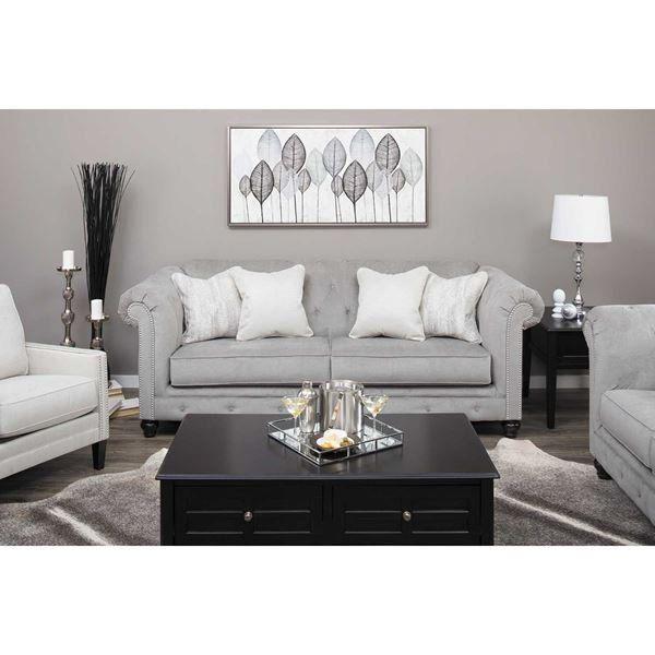 Picture Of Tiarella Silver Tufted Sofa Furniture Condo Living
