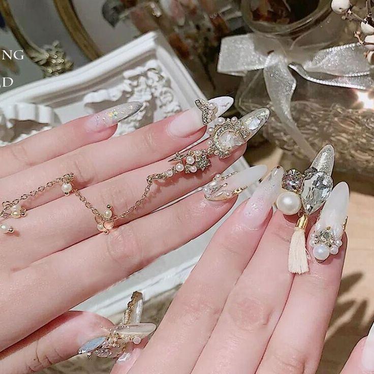 2020 New Pearl Tassel Decoration Nail Art