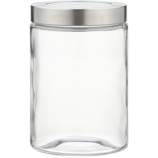 Crate & Barrel Small Glass Storage Container with Stainless Steel Lid ($6.95) ❤ liked on Polyvore featuring home, kitchen & dining, food storage containers, stainless steel food storage containers, stainless food storage containers, glass food storage containers and crate and barrel
