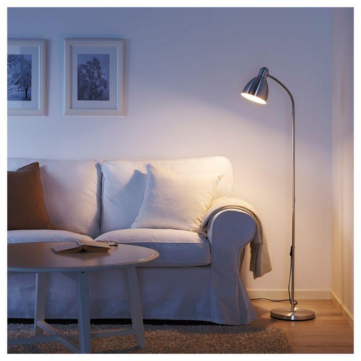 Lersta Floor Reading Lamp With Led Bulb, Floor Lamps For Living Room Ikea