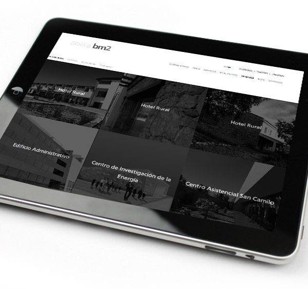 Una web diseñada para ser accesible no sólo para ordenadores sino también a tabletas y smartphones. Aquí un ejemplo de ello.