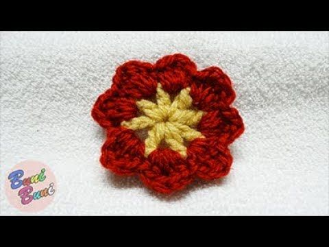 CROSETAT - Floare cu 8 petale, simpla(Crochet flower)