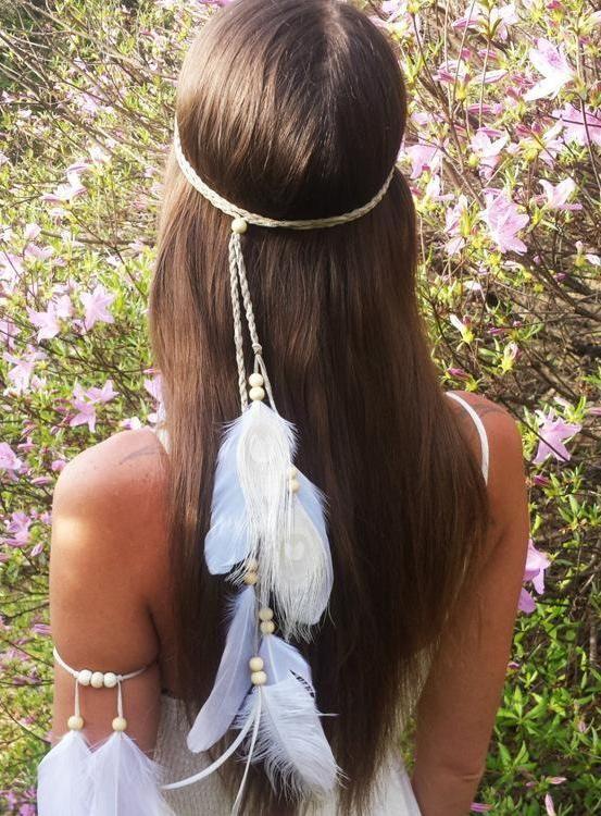 Bohemian Feathers Gypsy Hippie Peacock Hair Accessories #bohemiastyle #dress #cu…