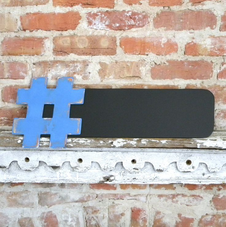 Hashtag Chalkboard 9x24 - Twitter trending tweets, many colors available. $25.00, via Etsy.