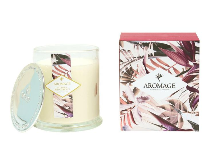 Lychee & Red Currant Scented Candle 350g