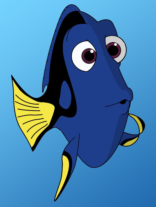 How To Draw Dori From Finding Nemo - Definitely one of my favorites so far!!!