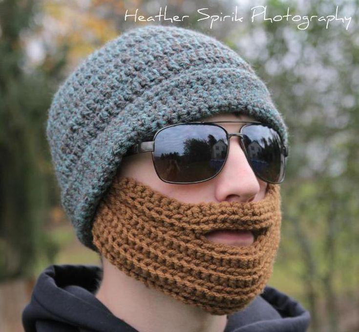 Man's Crochet Bearded Hat   Craftsy