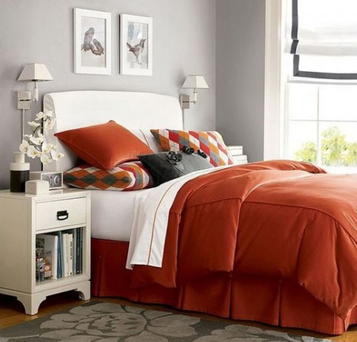 Best 25+ Orange Bedroom Decor Ideas On Pinterest