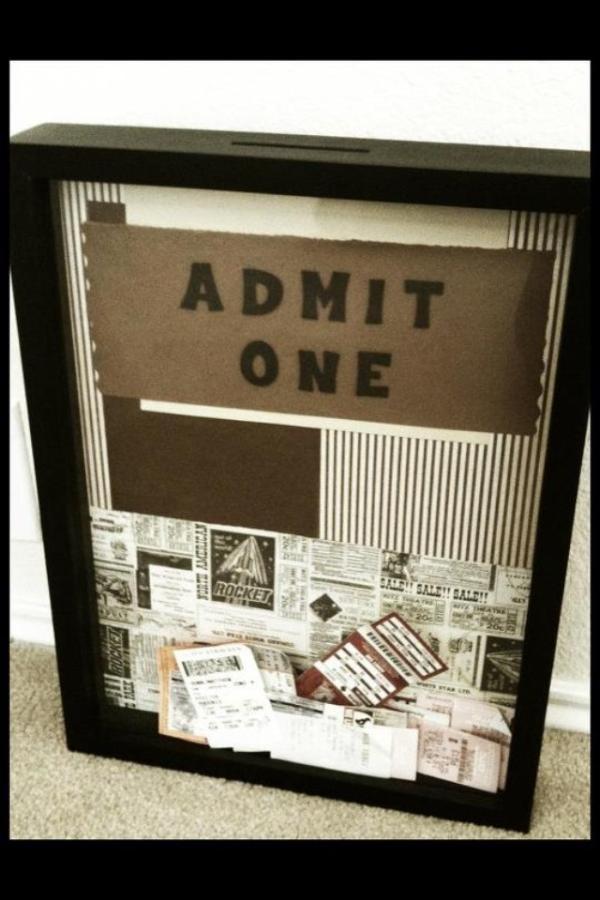 My DIY Ticket Box!
