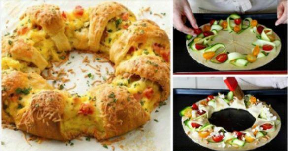 Ecco la ricetta passo passo per preparare questa torta salata alle verdure a forma di corona, originale e gustosa.