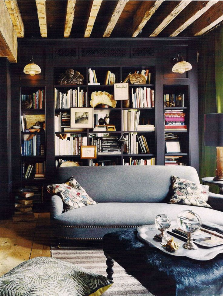 Rooms That Prove Black Built-in Bookcases Are the Next Big Thing