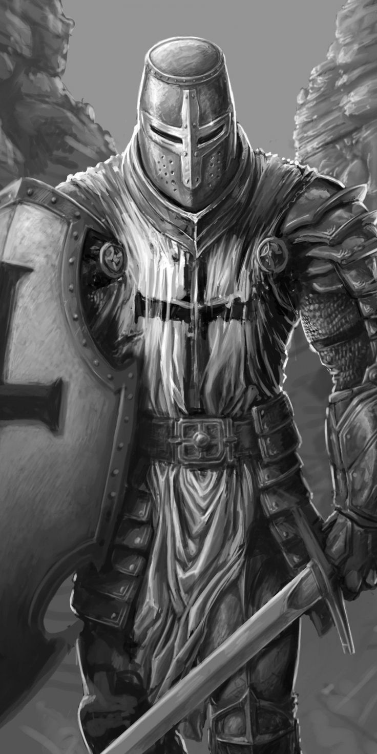 The Knight, fantasy, warrior, art, 1080x2160 wallpaper
