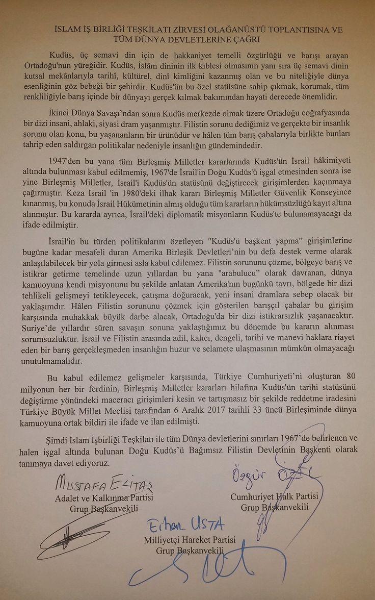 TBMM Genel Kurulunda AK PARTİ, CHP ve MHP Grubunu…