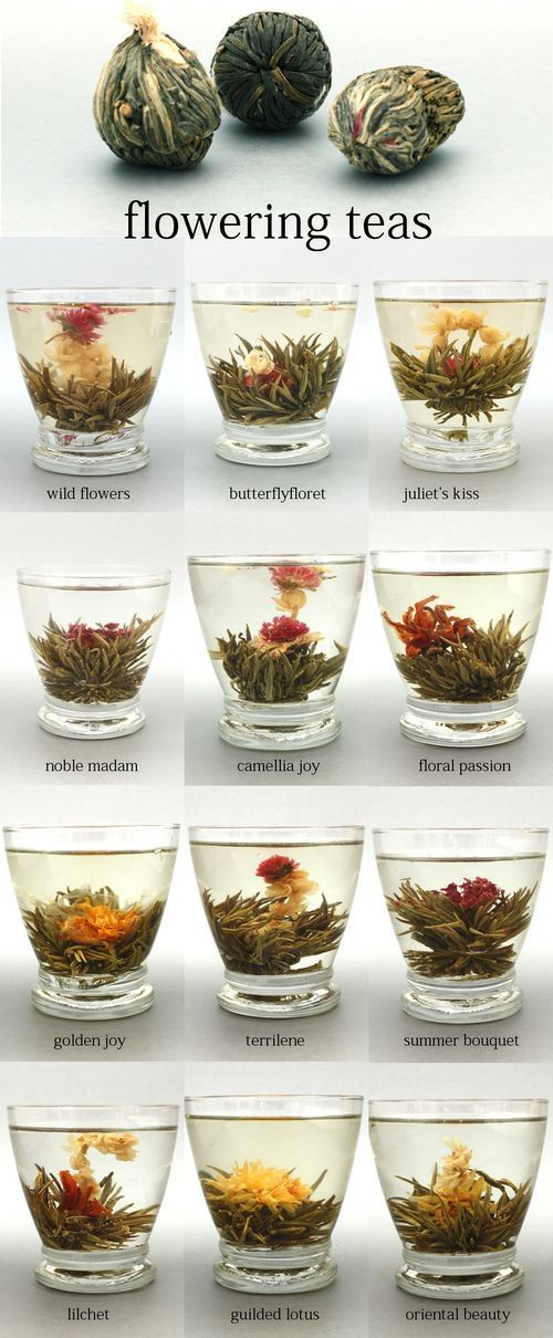 Flowering teas - fun, delicious, and makes tea time an occasion! I've even just put one in cold water so my granddaughter could enjoy it opening all day while she played at our home.