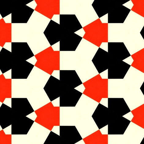 Tjasker Red fabric by stoflab on Spoonflower - custom fabric