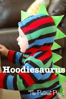 Cute: Pinterest Projects, Diy Crafts, Kids Stuff, Halloween Costumes, Dinosaurs Hoodie, Hoods Sweaters, Baby, Halloween Ideas, Little Boys