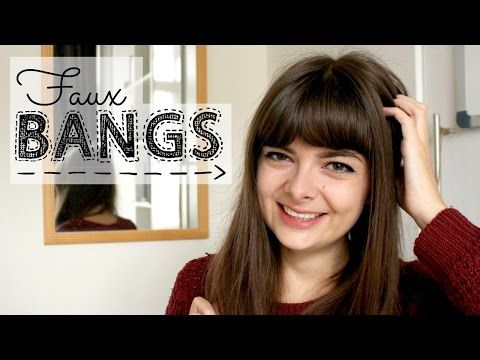 Faux Bangs | No Hairpiece, No Scissors - YouTube