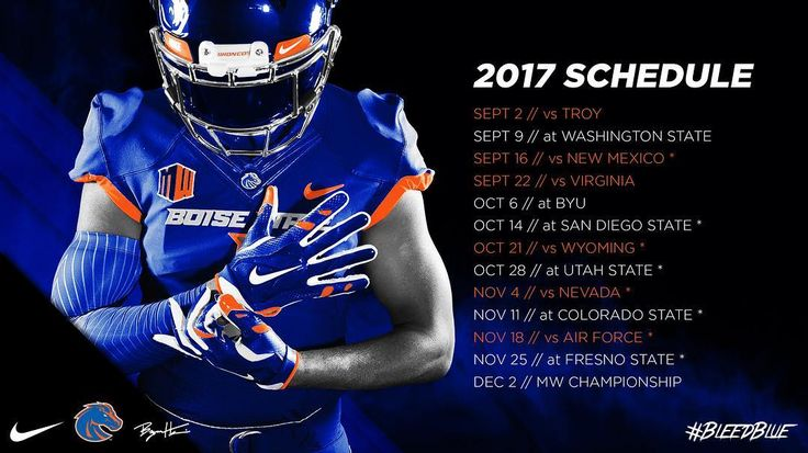 The 2017 Bronco Football Schedule