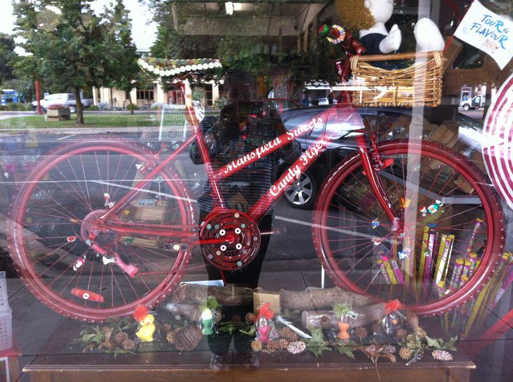 The Candy Flyer bike! #mansfieldmtbuller # tourdeflavour #bikeriding #sweets
