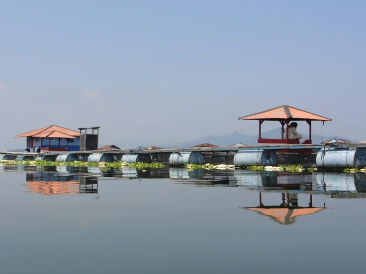 Floating village near Cianjur, Java, Indonesia