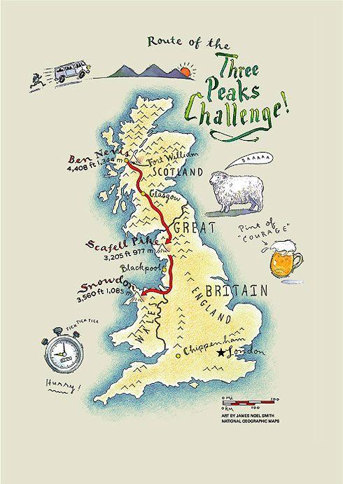 Three Peaks Challenge - Ben Nevis, Scafell, Snowdon in 24 hours - James Noel…