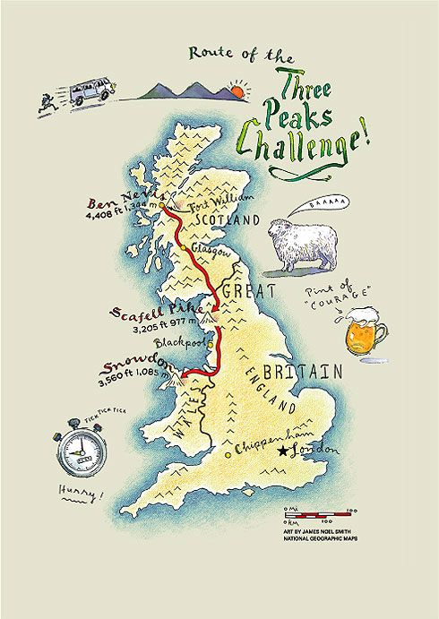 Three Peaks Challenge - Ben Nevis, Scafell, Snowdon in 24 hours