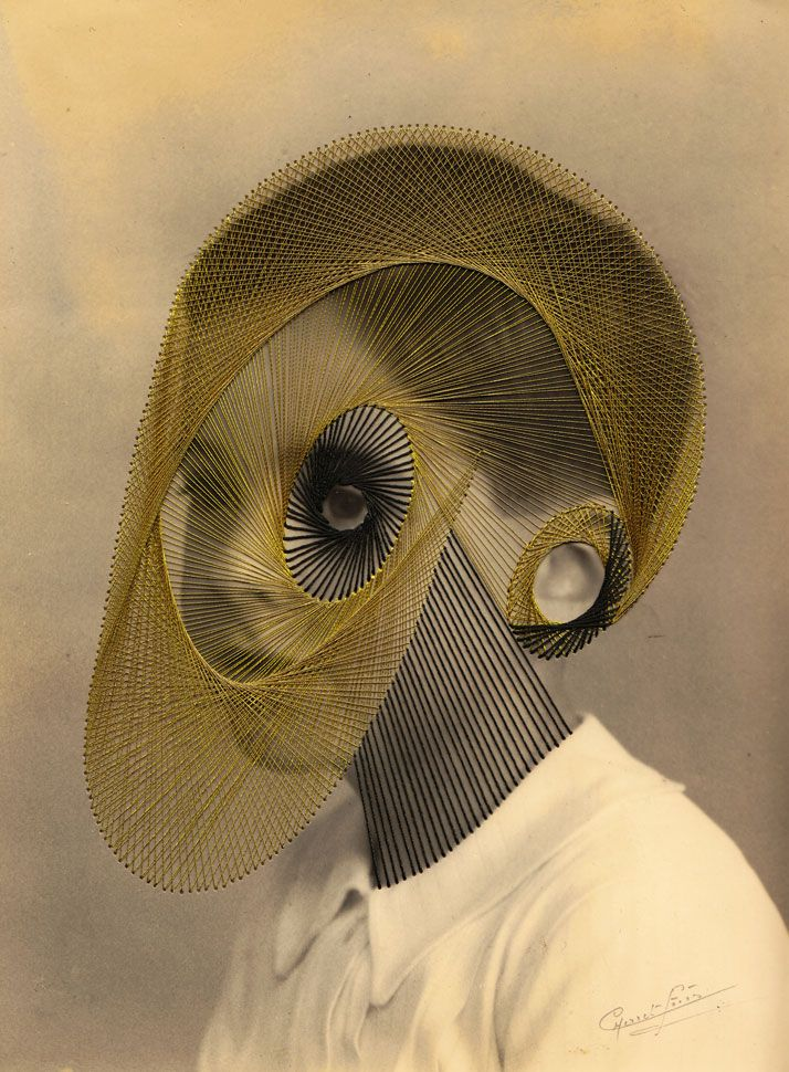 Extraordinary embroidered vintage photographs by Maurizio Anzeri - eerie and fascinating.