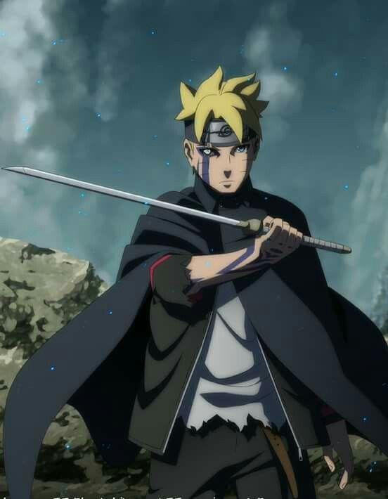 Boruto uzumaki... He looks like naruto but fights like sasuke...
