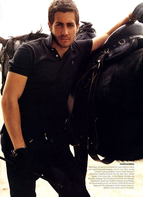 www.pegasebuzz.com/leblog | Horse and people : Jake Gyllenhaal by Mario Testino for Vogue US, july 2004
