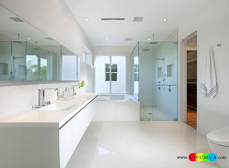 Bathroom:Decorating Modern Summer Bathroom Decor Style Tropical Bath Tubs Ideas Contemporary Bathrooms Interior Minimalist Design Decoration Plans Clear Accessories In A Minimalist Bathroom Cool and Cozy Summer Bathroom Style : Modern Seasonal Decor Ideas