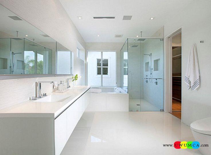 Bathroom:Decorating Modern Summer Bathroom Decor Style Tropical Bath Tubs Ideas Contemporary Bathrooms Interior Minimalist Design Decoration Plans Clear Accessories In A Minimalist Bathroom Cool and Cozy Summer Bathroom Style : Modern Seasonal Decor Ideas