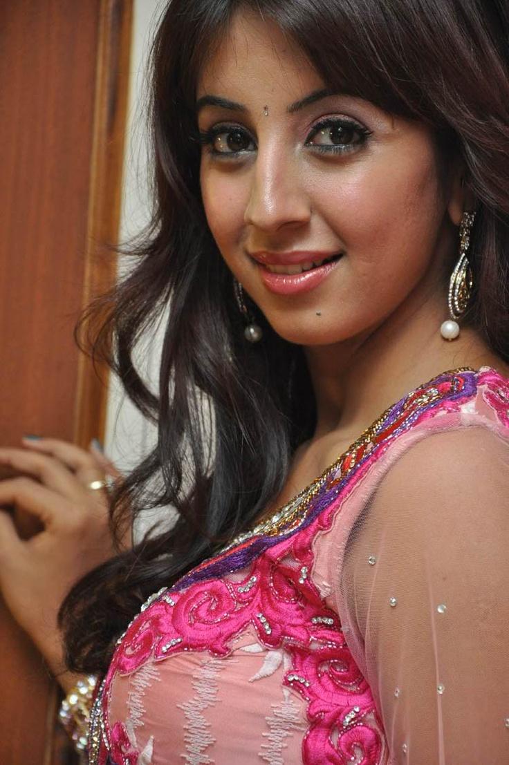 Telugu Actress Sanjana Latest Beautiful Photos In Pink Dress at Jagan Nirdoshi Movie pre-Release Press Meet Event held at Hyderabad.