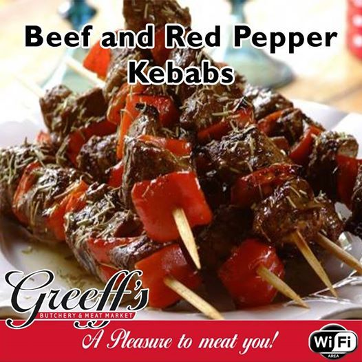 Try out this delicious recipe for Beef and Red Pepper Kebabs for full recipe read more here: http://besociable.link/CS. #butchery #beef #greeffs