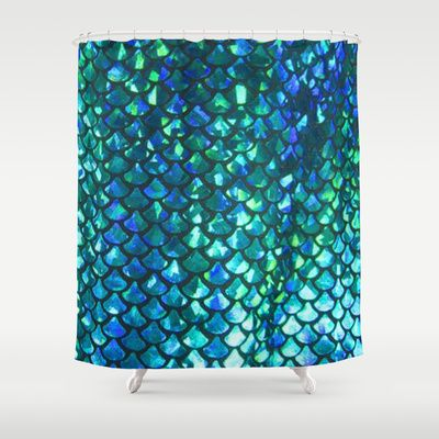 Mermaid Scales Shower Curtain - Available Here: http://society6.com/product/mermaid-scales-gch_shower-curtain