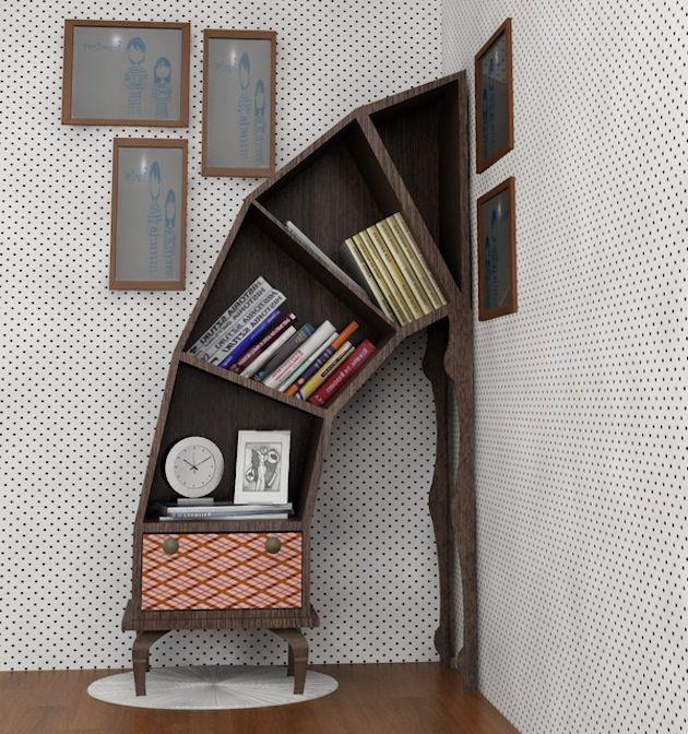 Creatieve en grappige boekenkasten