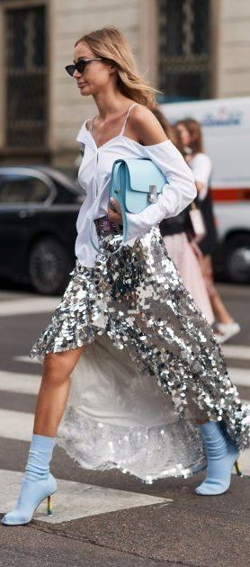 street style | Shimmer | Sparkle | Sequins | Outfit inspiration | Trends 2018 | Fashion | OOTD