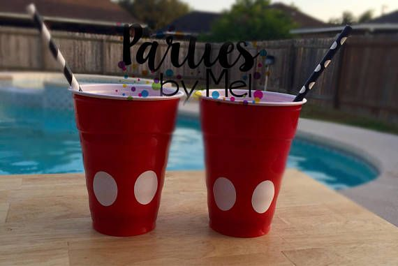 Mickey Mouse cups Mickey Party cups Mickey Mouse club house