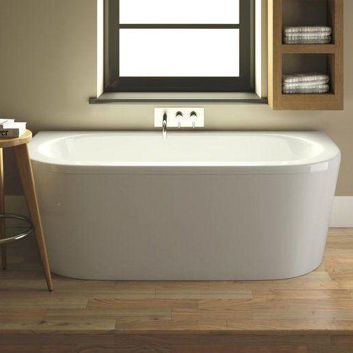 Shingle 170cm x 80cm Freestanding Whirlpool Bathtub