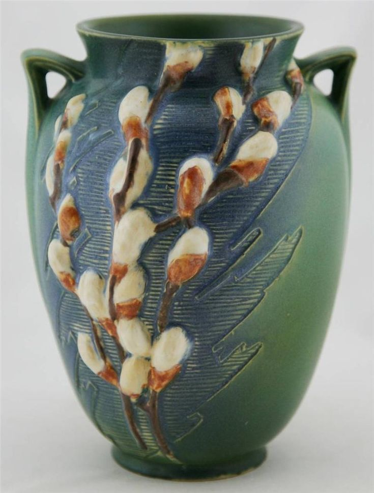Roseville Pottery - Pussy Willow -  Experimental #potsinacnj                                                                                                                                                     More