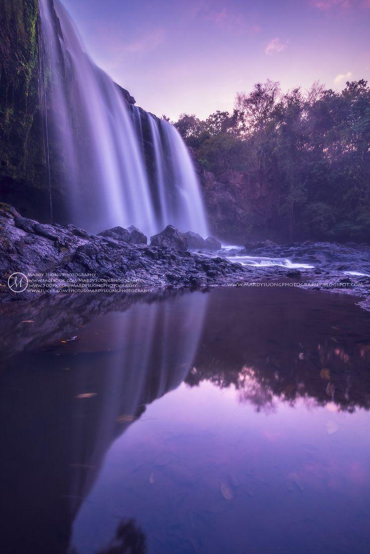 Sunset at Bousra Waterfall of Mondulkiri Province by Mardy Suong Photography on 500px
