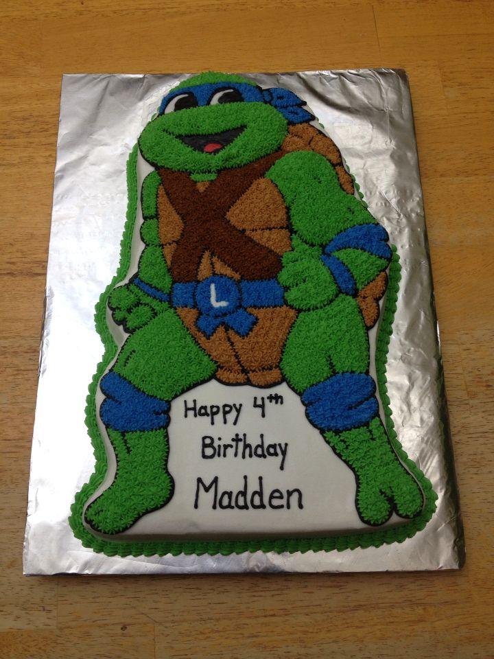 Leonardo the teenage mutant ninja turtle. Made using wilton ninja turtle pan
