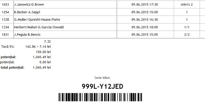 PONTURI PARIURI - BILETUL ZILEI @ TENNIS @ 09.06.2015 @ Man @ ponturi-bune.ro - Ponturi Bune