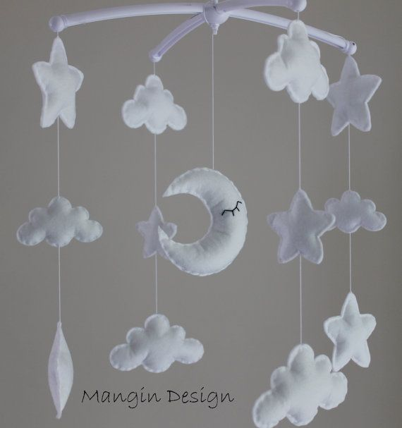 Sale Gorgeous star cloud moon mobile musical cot mobile star