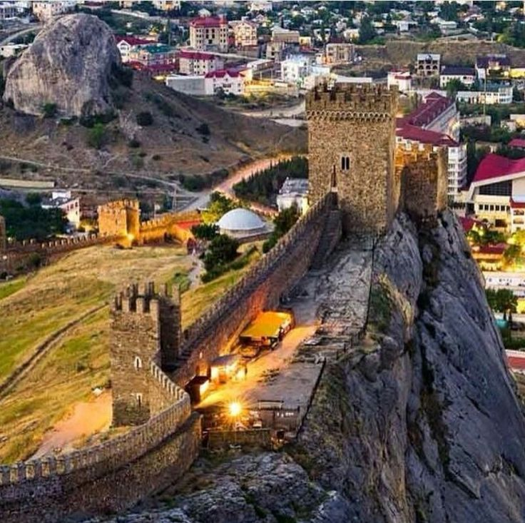 Sudak city.Genoese fortress.Crimea.