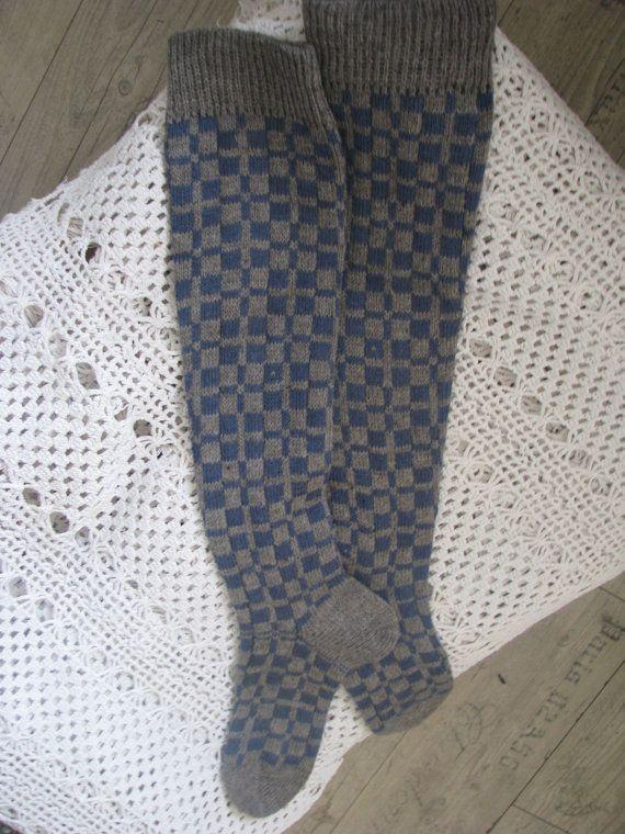 wool socks retro van WoolMagicShop op Etsy
