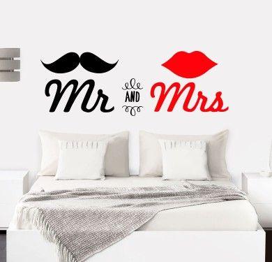 Vinilo cabecero Mr and Mrs Nous vinils... divertits i originals...