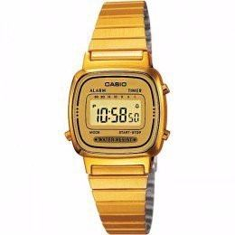 reloj casio mujer dorado la 670