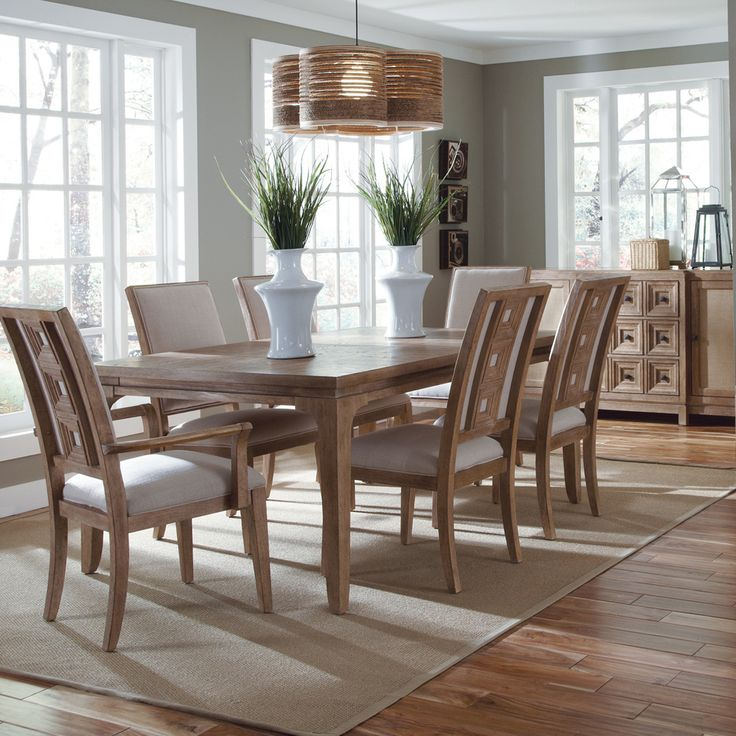 Ventura Rectangular Leg Dining Room Set Table Sets Bedroom Furniture Curio Cabinets And Solid Wood